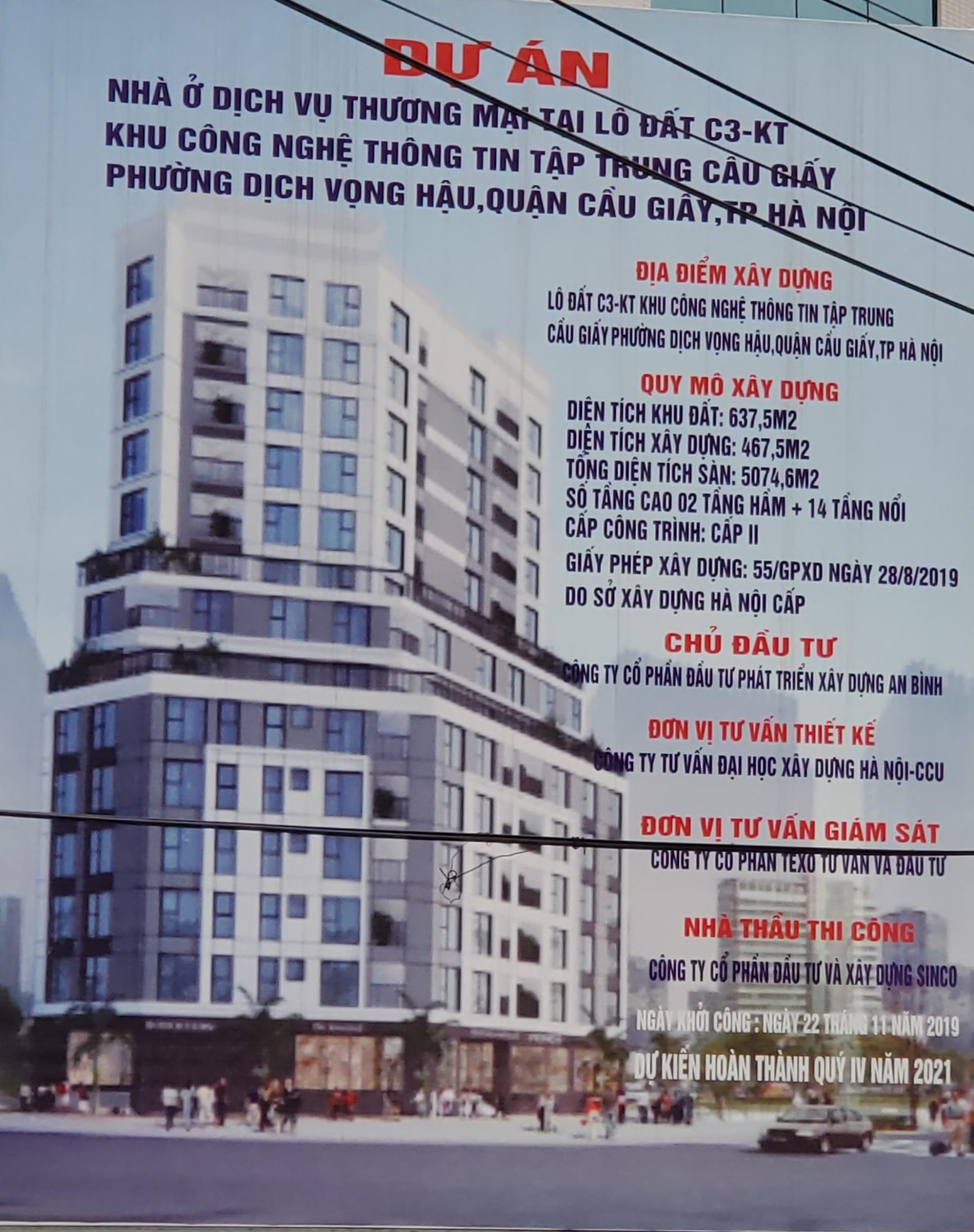 Quận Cầu Giấy (Hà Nội) – Ai tiếp tay cho việc chuyển đổi đất đầu mối hạ tầng kỹ thuật thành chung cư cao tầng?