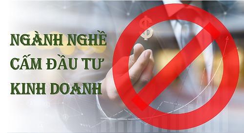 Ngành nghề cấm đầu tư kinh doanh và hành vi đầu tư kinh doanh bị cấm theo luật đầu tư năm 2020