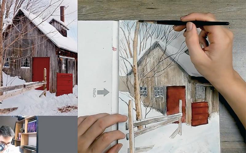 Học nghệ thuật trực tuyến trong ngày giãn cách